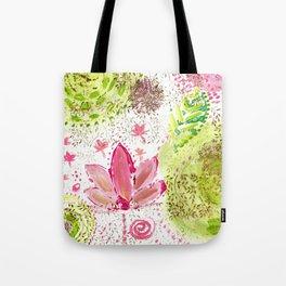 Floating Pink Lotus Tote Bag