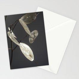 Minimalist Lunaria at Night Stationery Cards