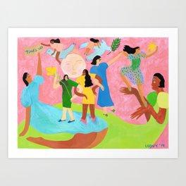 TIME'S UP by Ana Leovy Art Print