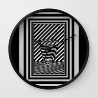 tequila Wall Clocks featuring Trippin' Tequila by Ana Lillith Bar