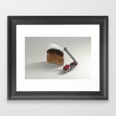Toast on fire Framed Art Print