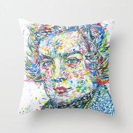 ROBERT SCHUMANN watercolor portrait Throw Pillow