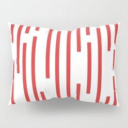 Minimalist Lines – Red Pillow Sham
