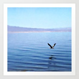 Salton Sea, 2016 (Great Blue Heron) Art Print