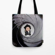The pig with the golden gun Tote Bag