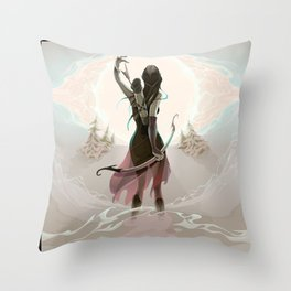 The last chance Throw Pillow