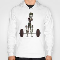 crossfit Hoodies featuring Crossfit Zombie by RonkyTonk doing Deadlift by RonkyTonk