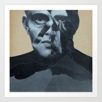 Man in the River Art Print