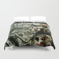 walking dead Duvet Covers featuring Imperial Walking Dead by jastervision