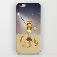 Little Fox Girl iPhone & iPod Skin
