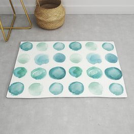 Blue Sea Glass Watercolor JUUL Rug
