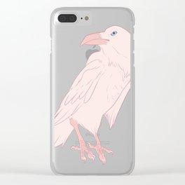 Leucistic Raven Clear iPhone Case