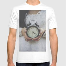Ticking MEDIUM White Mens Fitted Tee