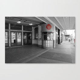 Wilma Theater Box Office Canvas Print