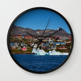 Nuuk from the seaside Wall Clock