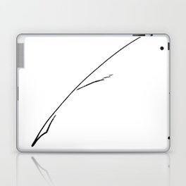 Black Writer's Quill Laptop & iPad Skin