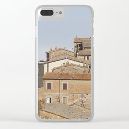 Village in the clouds Clear iPhone Case