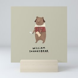 William Shakesbear Mini Art Print