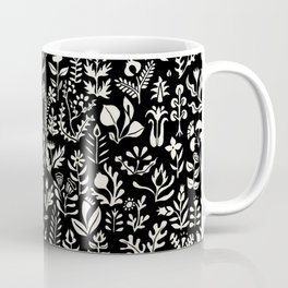 Black and white botanical pattern Coffee Mug