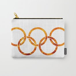 Flaming Olympic Rings Carry-All Pouch