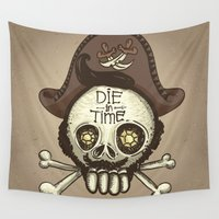 pirate Wall Tapestries featuring pirate by adi katz