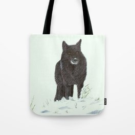 Wolf's snow Tote Bag
