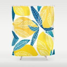Lemon Tree / Abstract Fruit Art Shower Curtain