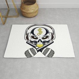 hip hop skull Rug