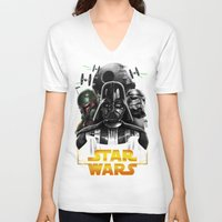 dark side V-neck T-shirts featuring dark side by Vincent Trinidad