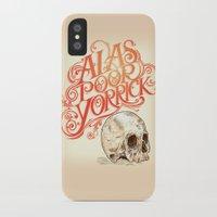 hamlet iPhone & iPod Cases featuring Hamlet Skull by Rachel Caldwell