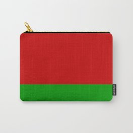 flag of belarus-belarusian,Minsk,Homyel,russia,snow,cold,chess,bear,rus,wheat,europe,easthern europe Carry-All Pouch