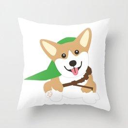 The Legend of Corgi Throw Pillow