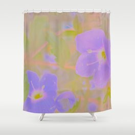 Georgia Blue, The Earth Laughs In Flowers Shower Curtain