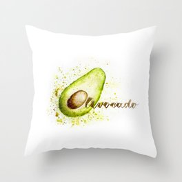 Let's avocuddle Throw Pillow