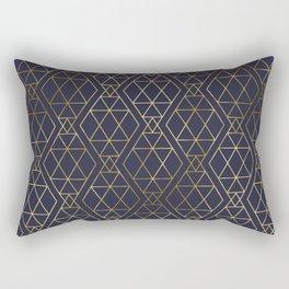 Modern Art Deco Geometric 2 Rectangular Pillow