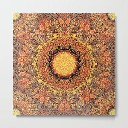 Marigold Mandala Metal Print