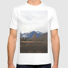 Turnagain Pass White MEDIUM Mens Fitted Tee