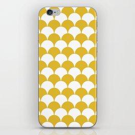 Fan Pattern 321 Mustard Yellow iPhone Skin