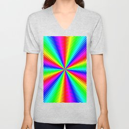 Tunnel of Distraction Remix 3 Unisex V-Neck