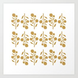 Wildflower - Mustard Art Print
