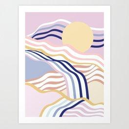 Abstract Summer Waves Art Print