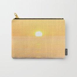 Peachy sunrise seascape Carry-All Pouch