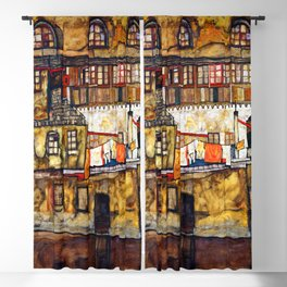 Egon Schiele House Wall on the River Blackout Curtain