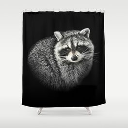 A Gentle Raccoon Shower Curtain