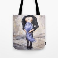 returns Tote Bags featuring Saturn Returns by Artist Andrea