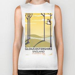 Gloucestershire England rail poster Biker Tank