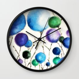 Cotton Balls Wall Clock