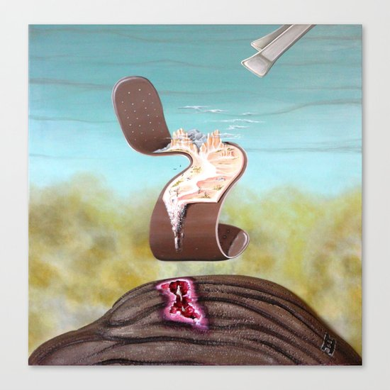 """""""Bandage and Tweezers"""" Canvas Print"""