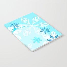 Blue Flower Art Winter Holiday Notebook