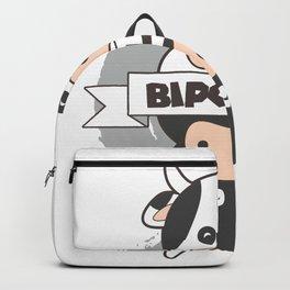BiPolar Cow I Cute Mental Disorder print & Cow Polar Gift Backpack